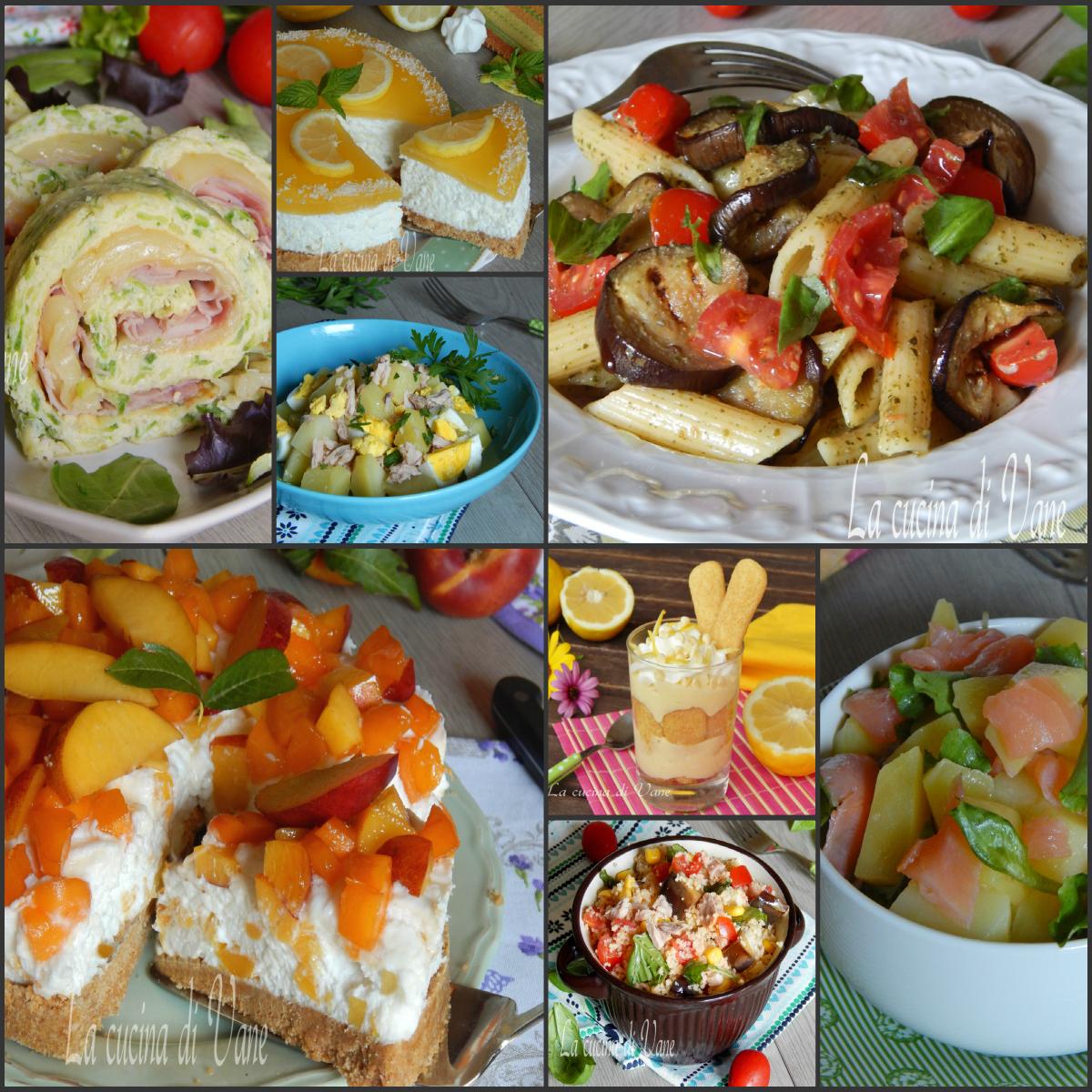 Piatti freddi estivi dall'antipasto al dolce