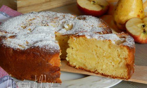 Torta di mele e pere con mascarpone