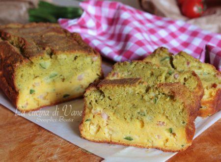 Plumcake salato con pesto zucchine e speck