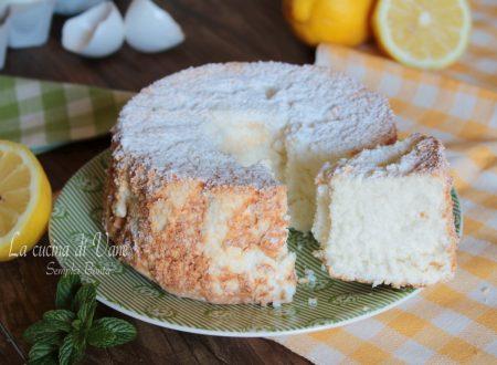 Angel cake al limone -Torta degli angeli al limone