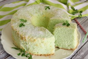 Chiffon cake cocco e menta