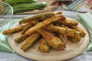 Zucchine fritte dorate semplici e gustose