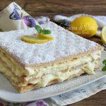 Millefoglie con crema diplomatica al limone
