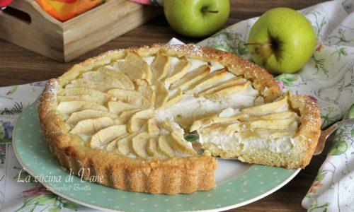 Crostata morbida ricotta e mele