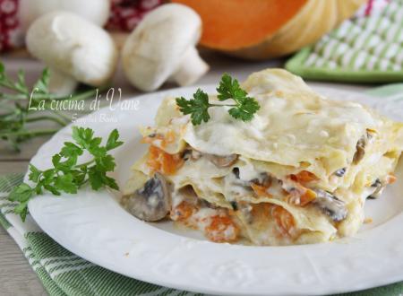 Lasagne con zucca e funghi cremose e gustose
