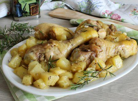 Pollo in padella con le patate