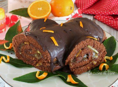 Tronchetto di Natale arancia e cioccolato