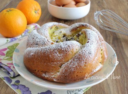 Torta ricotta arancia e cioccolato