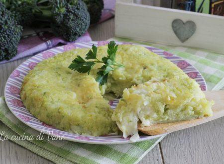 Schiacciata filante di broccolo e patate