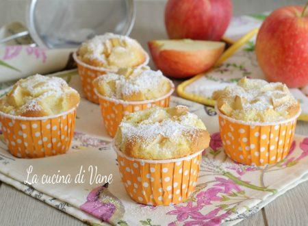Muffin alle mele con farina di riso