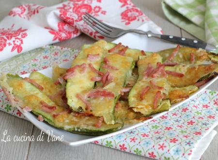 Zucchine al forno prosciutto e mozzarella