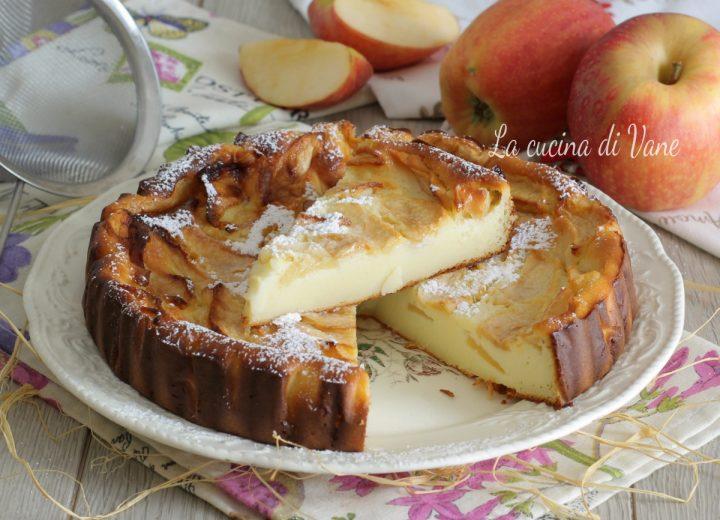 torta di mele e ricotta cremosa