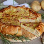 Torta salata patate stracchino e mortadella