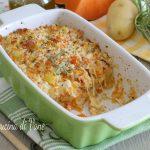 Pasticcio croccante di zucca e patate al forno
