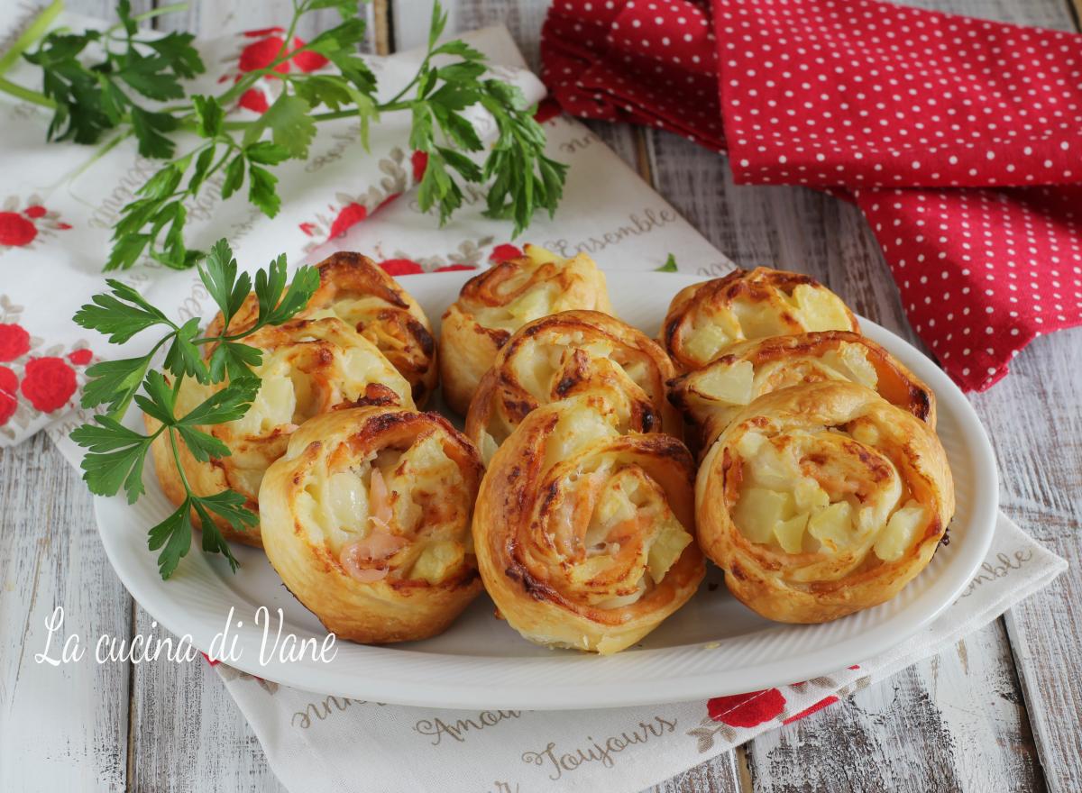 girelle patate e salmone antipasto di Natale