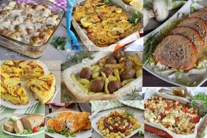 Secondi Piatti Al Forno Di Carne Di Pesce E Con Verdure