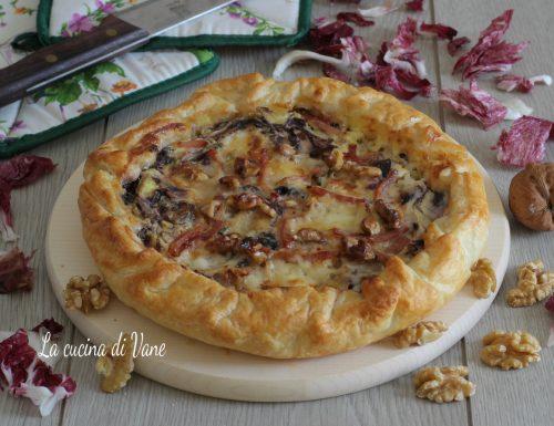 Torta salata radicchio speck e gorgonzola