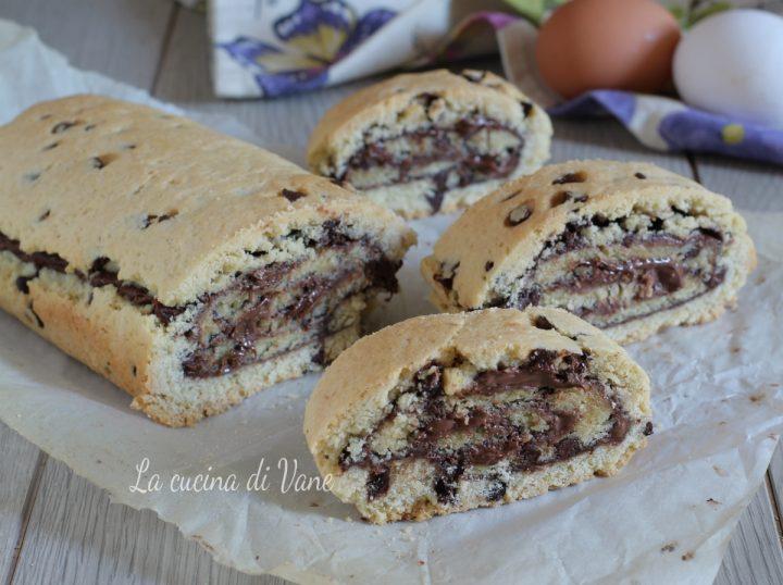 rotolo cookie alla Nutella