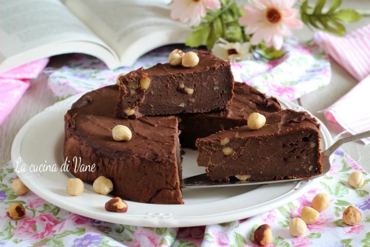 torta alla ricotta e cioccolato cremosa