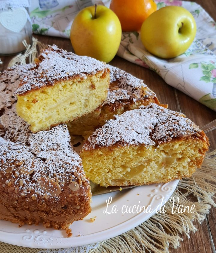 torta di mele senza burro e latte