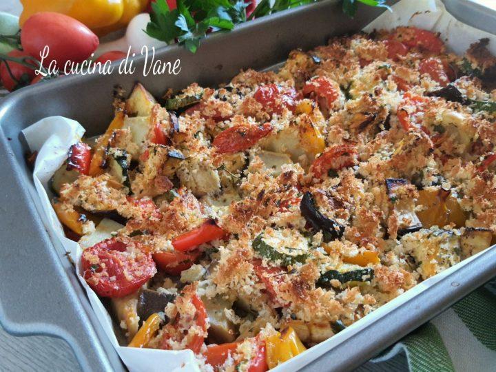 verdure gratinate al forno croccanti