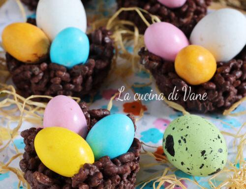 NIDI DI CIOCCOLATO ricetta di Pasqua