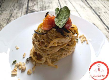 Spaghetti al pesto di melanzane e nocciole