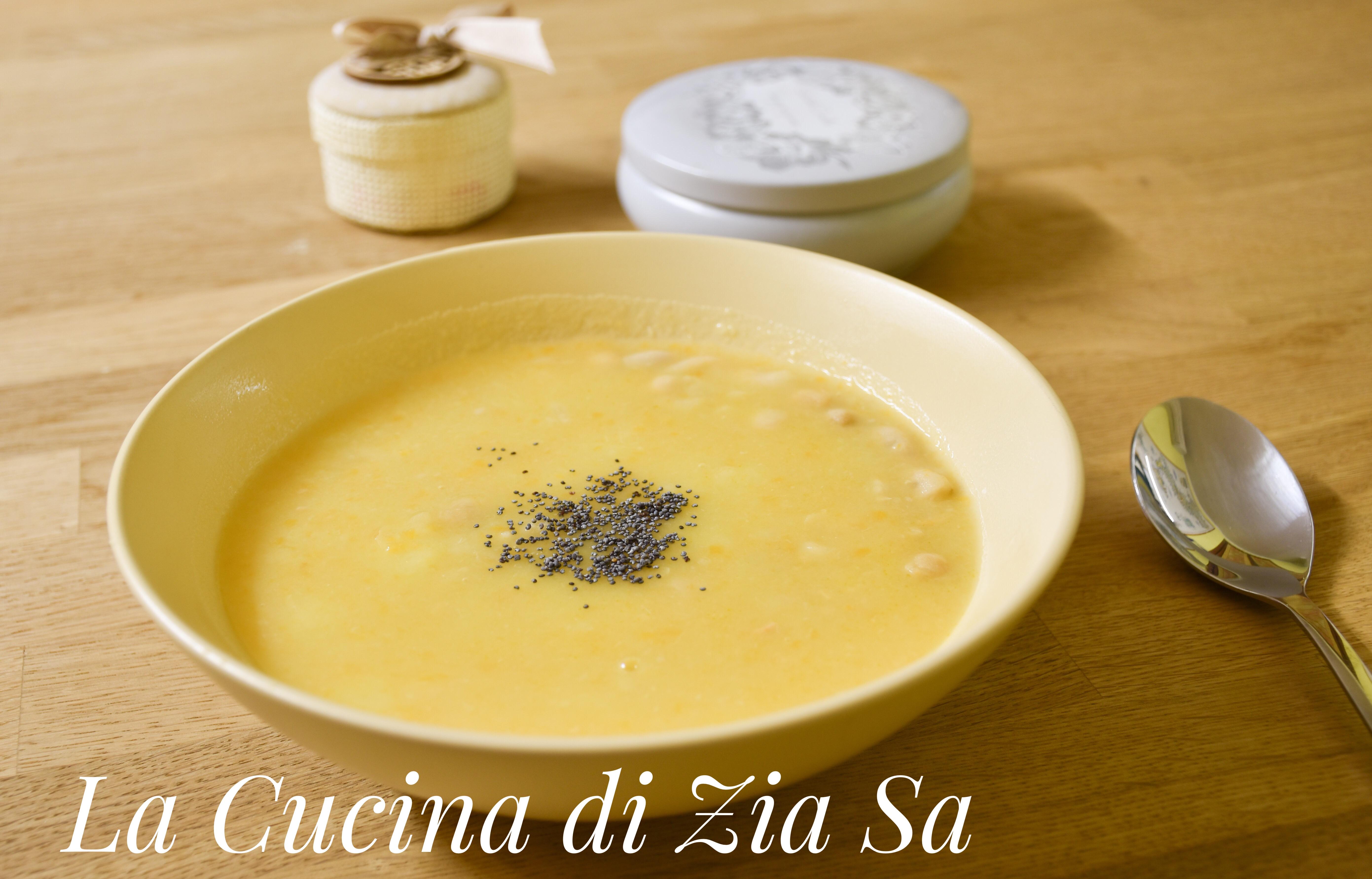 Zuppa di ceci e fagioli cannellini bimby