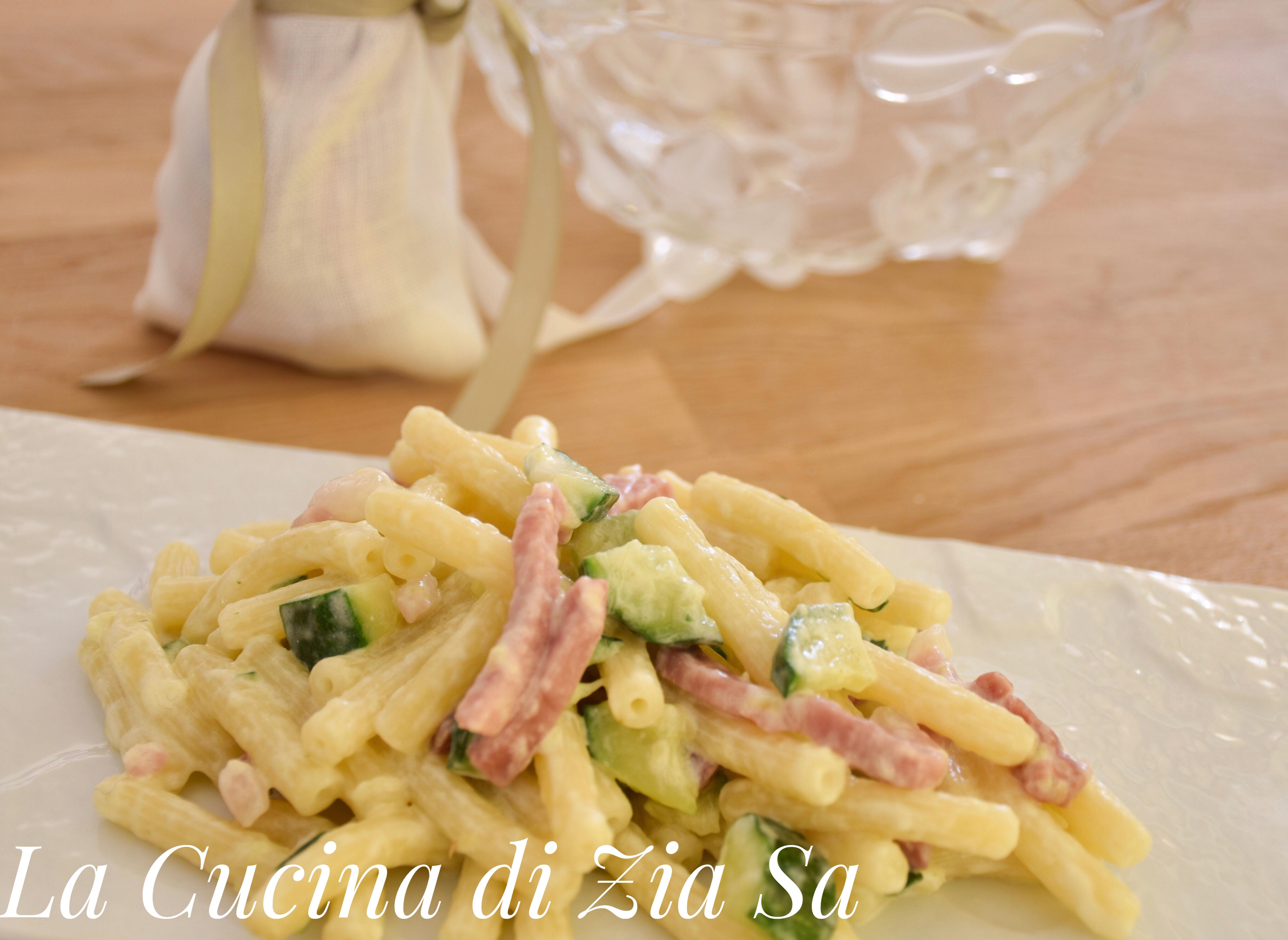 Sedanini zucchine e speck