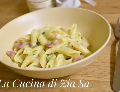 Pasta risottata pancetta e zucchine_bimby