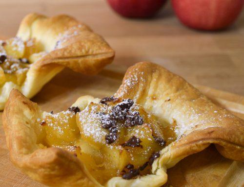 Cestini mele pere e cioccolato
