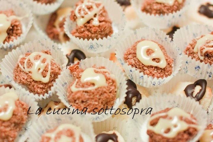 Palline al cocco e cioccolato