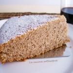 Torta integrale al vino rosso senza latte, burro e uova