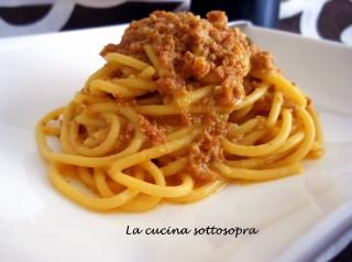 spaghetti risottati salsiccia e zafferano con e senza bimby