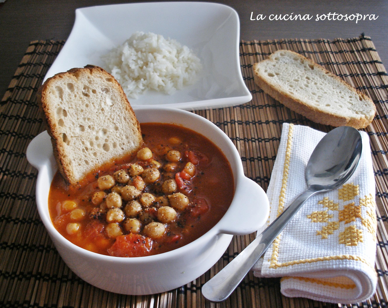 zuppa piccante di ceci con riso basmati
