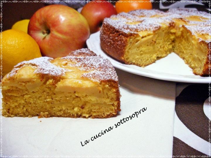 torta agrumata di mele e nocciole