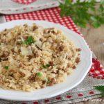Risotto di carne macinata - ricetta facile