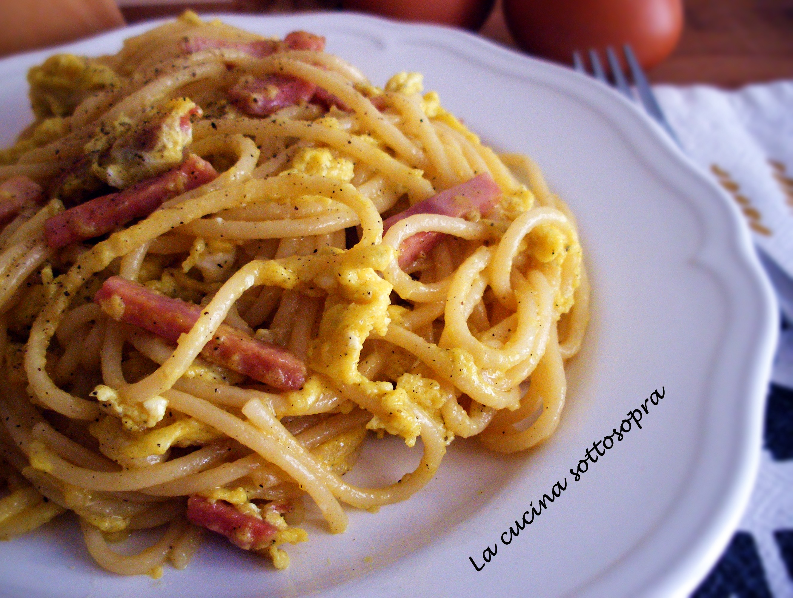 Spaghetti alla papalina di Benedetta Parodi