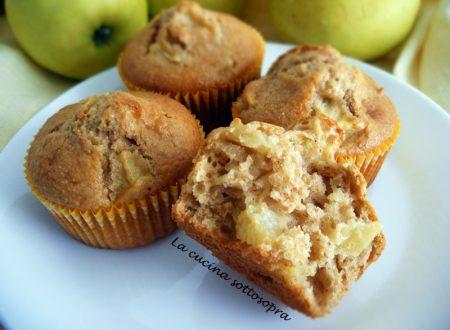Muffin integrali alle mele con crusca d'avena