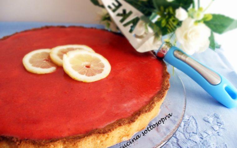 Crostata fragola e limone con crema al mascarpone