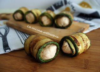 Involtini di zucchine al salmone affumicato