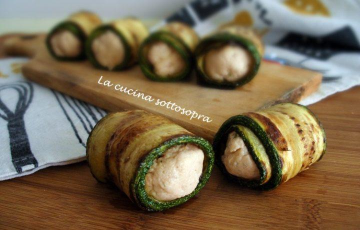 Involtini di zucchine e salmone