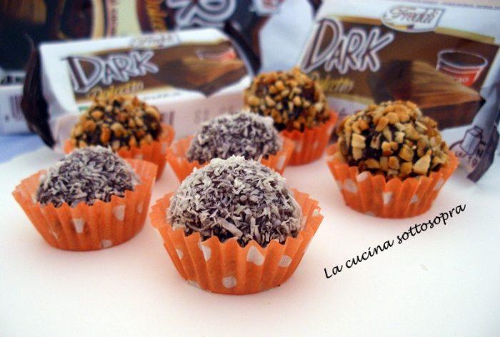 tartufi al cacao senza cottura
