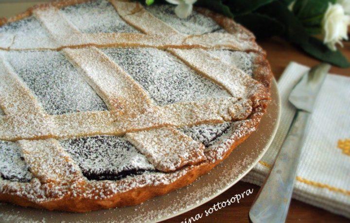 Crostata con crema di ricotta al cioccolato