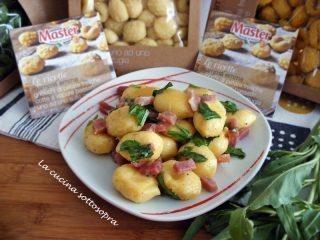 gnocchi al gorgonzola, crudo e rucola ricetta