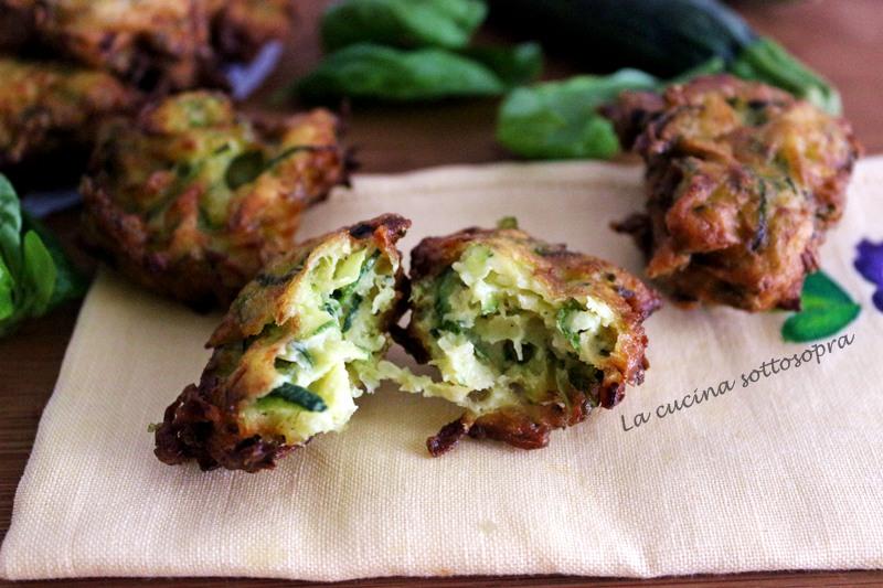 frittelle di zucchine al basilico