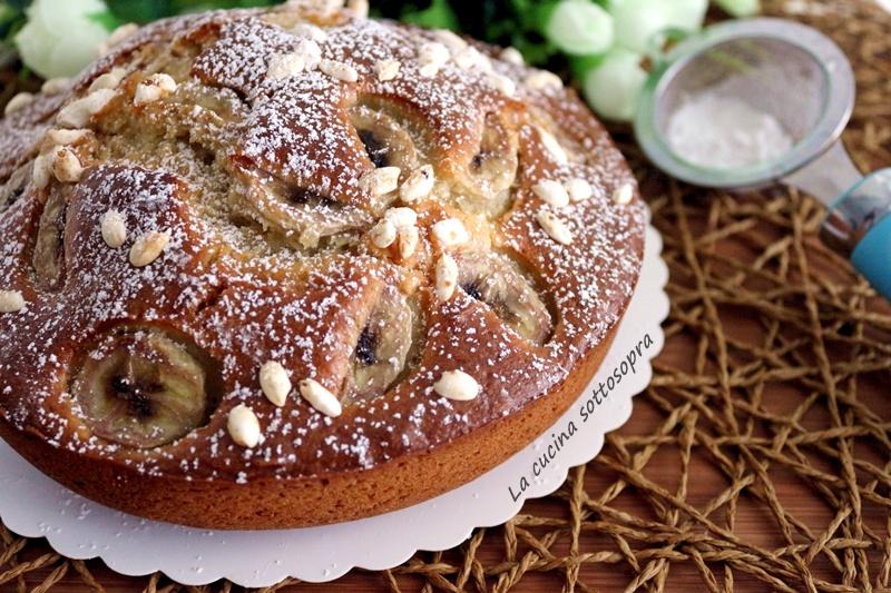 torta di banane senza burro