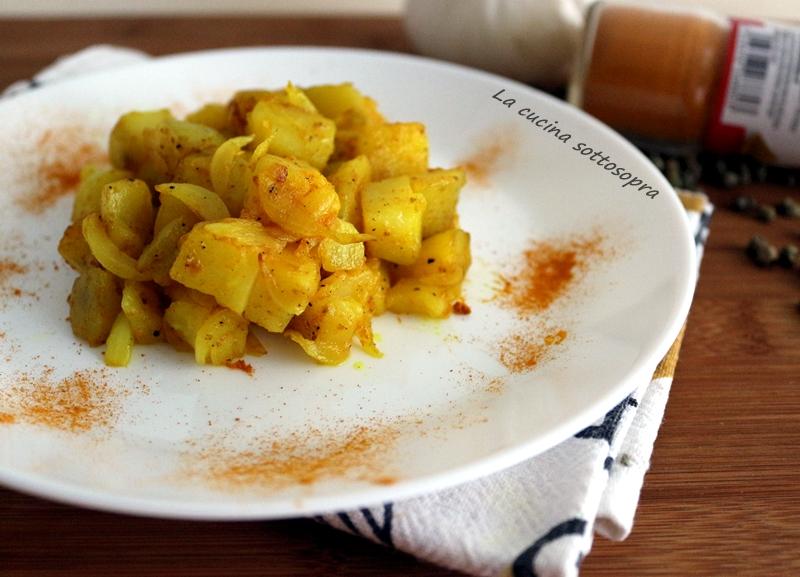 patate in padella alla curcuma