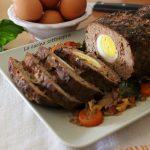 Polpettone di carne con uova sode