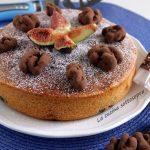 Torta di fichi e noci tartufate - soffice e senza burro